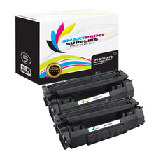 2 Pack HP 53X Q7553X Premium Replacement Black Toner Cartridge by Smart Print Supplies