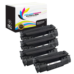 4 Pack HP 53X Q7553X Premium Replacement Black Toner Cartridge by Smart Print Supplies
