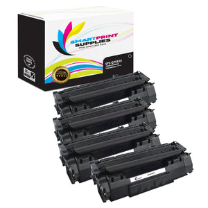 4 Pack HP 53X Q7553X Replacement Black Toner Cartridge by Smart Print Supplies