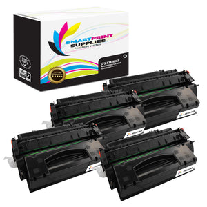 4 Pack HP 53X Q7553X Replacement Black High Yield MICR Toner Cartridge by Smart Print Supplies
