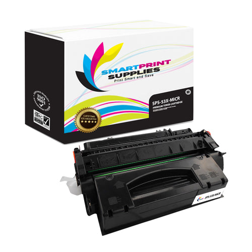 HP 53X Q7553X Replacement Black High Yield MICR Toner Cartridge by Smart Print Supplies