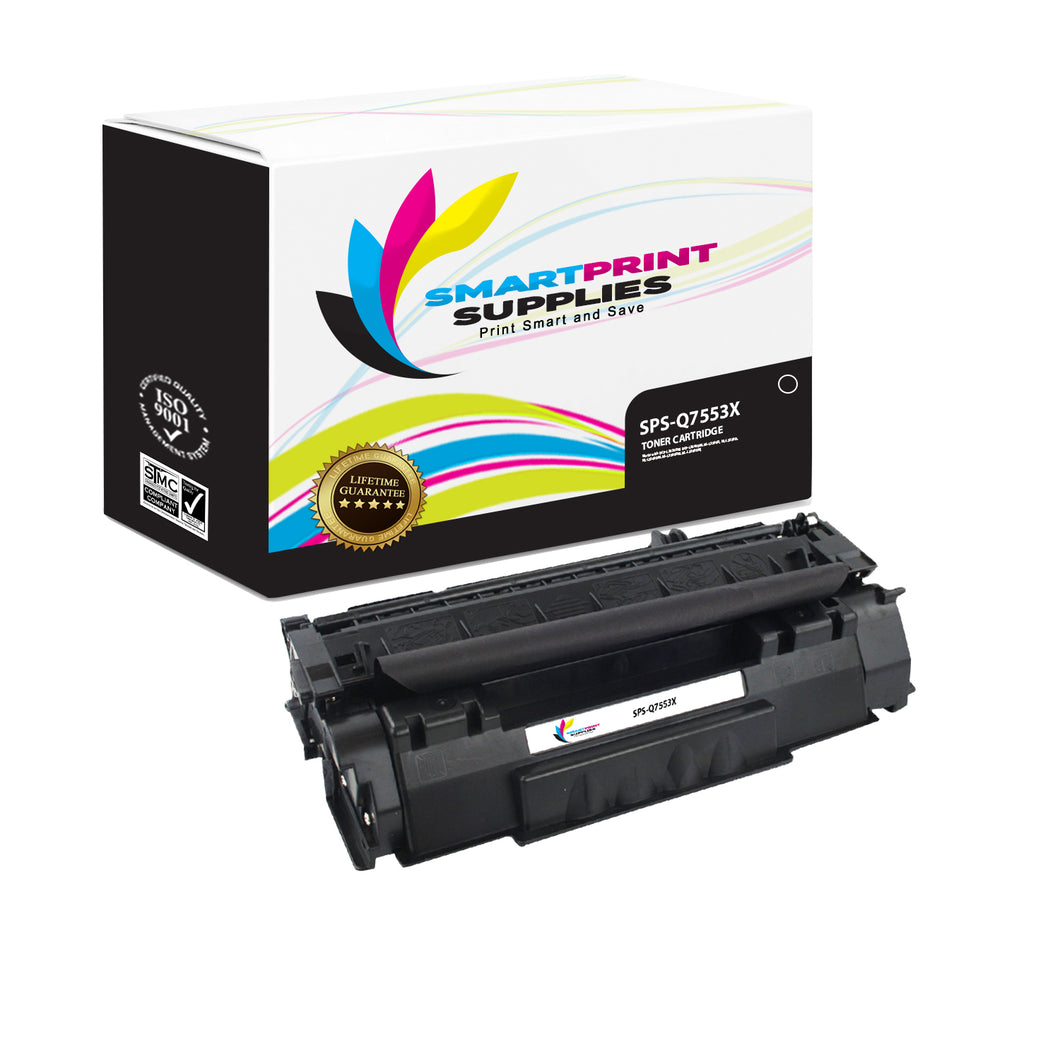 HP 53X Q7553X Replacement Black Toner Cartridge by Smart Print Supplies