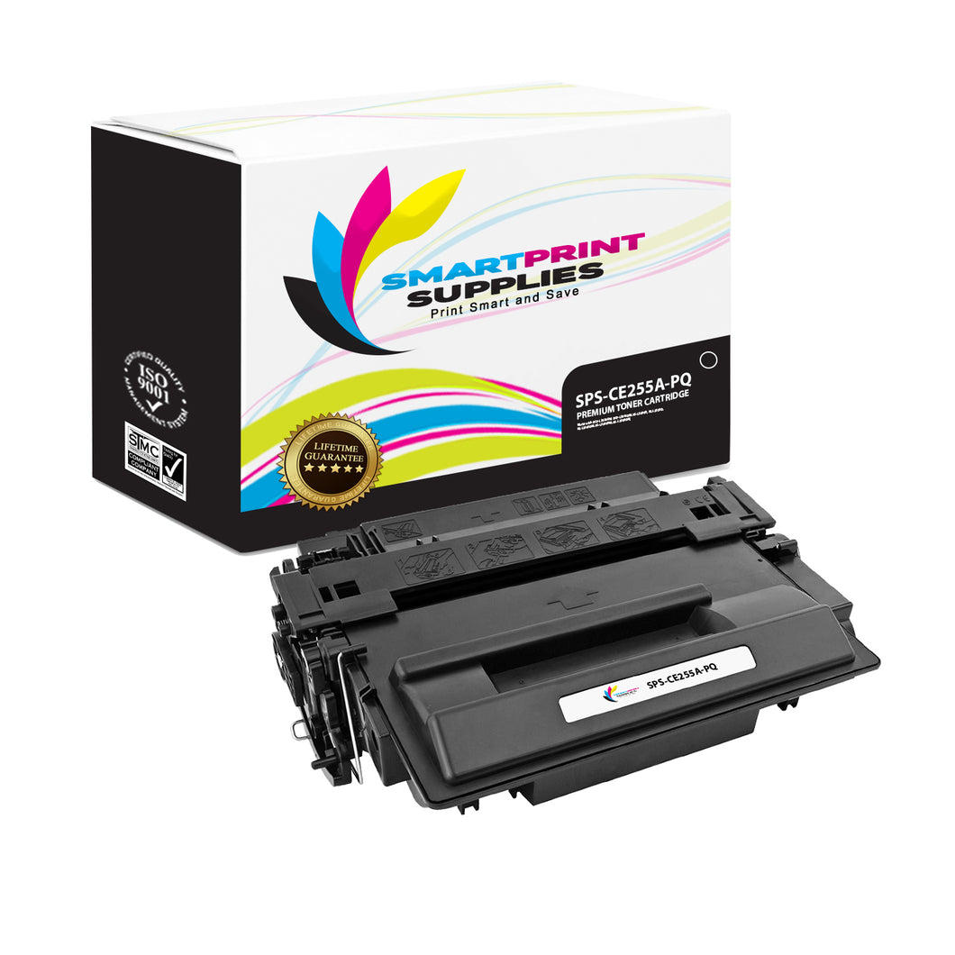 HP 55A CE255A Premium Replacement Black Toner Cartridge by Smart Print Supplies