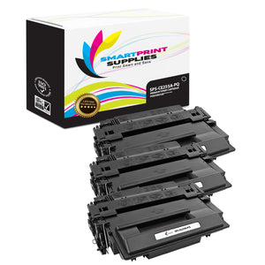 3 Pack HP 55A CE255A Premium Replacement Black Toner Cartridge by Smart Print Supplies