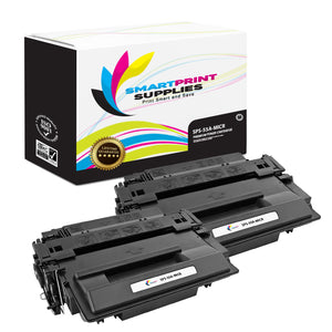 2 Pack HP 55A CE255A Replacement Black MICR Toner Cartridge by Smart Print Supplies