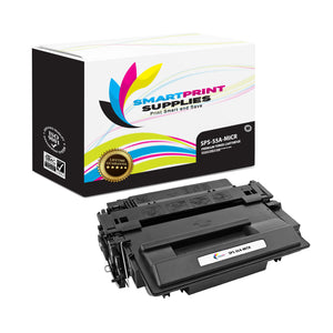 HP 55A CE255A Replacement Black MICR Toner Cartridge by Smart Print Supplies