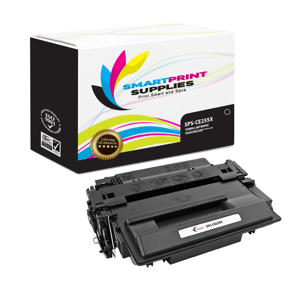HP 55X CE255X Replacement Black High Yield Toner Cartridge by Smart Print Supplies