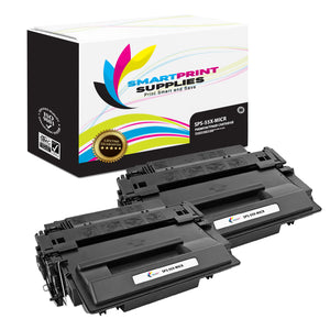 2 Pack HP 55X CE255X Replacement Black High Yield MICR Toner Cartridge by Smart Print Supplies