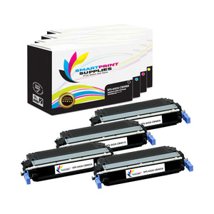 4 Pack HP 642A 4 Colors Toner Cartridge Replacement By Smart Print Supplies