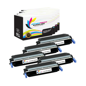 5 Pack HP 642A 4 Colors Toner Cartridge Replacement By Smart Print Supplies