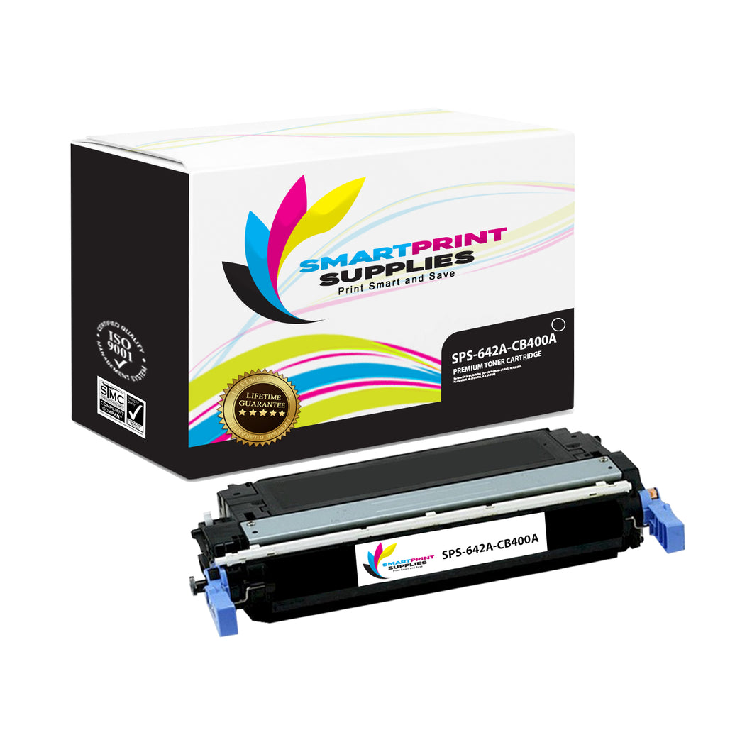 1 Pack HP 642A Black Toner Cartridge Replacement By Smart Print Supplies