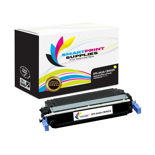 1 Pack HP 642A Yellow Toner Cartridge Replacement By Smart Print Supplies