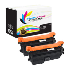 2 Pack HP 649X-648A-647A CE260A Replacement Black Toner Cartridge by Smart Print Supplies