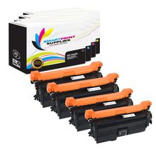 4 Pack HP 649X-648A-647A Replacement (CMYK) Toner Cartridge by Smart Print Supplies