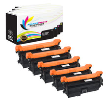 5 Pack HP 649X-648A-647A Replacement (CMYK) Toner Cartridge by Smart Print Supplies