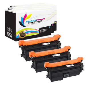 3 Pack HP 649X-648A-647A Replacement (CMY) Toner Cartridge by Smart Print Supplies