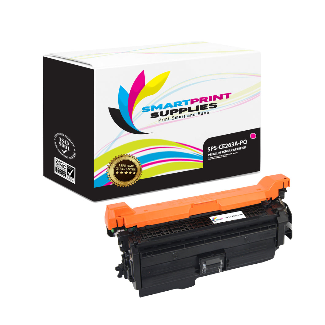 HP 649X-648A-647A CE263A Premium Replacement Magenta Toner Cartridge by Smart Print Supplies