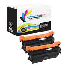 2 Pack HP 649X-648A-647A CE260X Premium Replacement Black Toner Cartridge by Smart Print Supplies