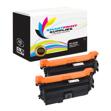 2 Pack HP 649X-648A-647A CE260X Replacement Black Toner Cartridge by Smart Print Supplies