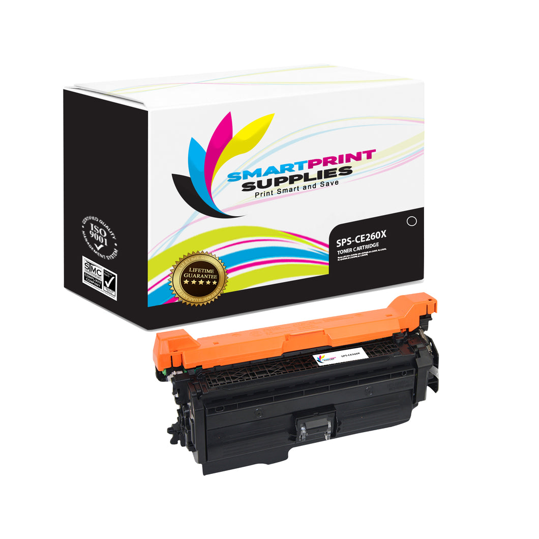 HP 649X-648A-647A CE260X Replacement Black Toner Cartridge by Smart Print Supplies
