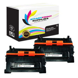 2 Pack HP 64A CC364A Replacement Black MICR Toner Cartridge by Smart Print Supplies