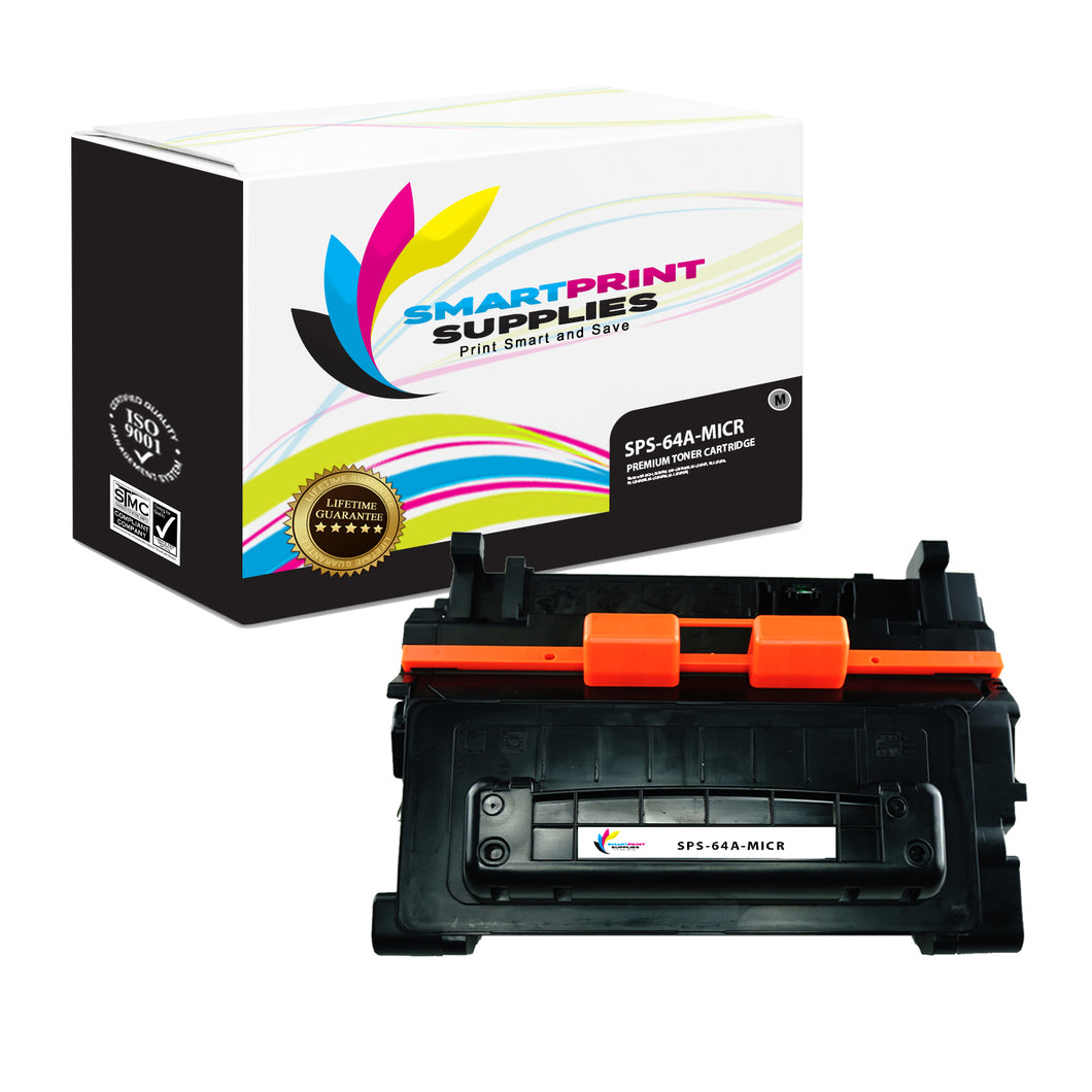 HP 64A CC364A Replacement Black MICR Toner Cartridge by Smart Print Supplies
