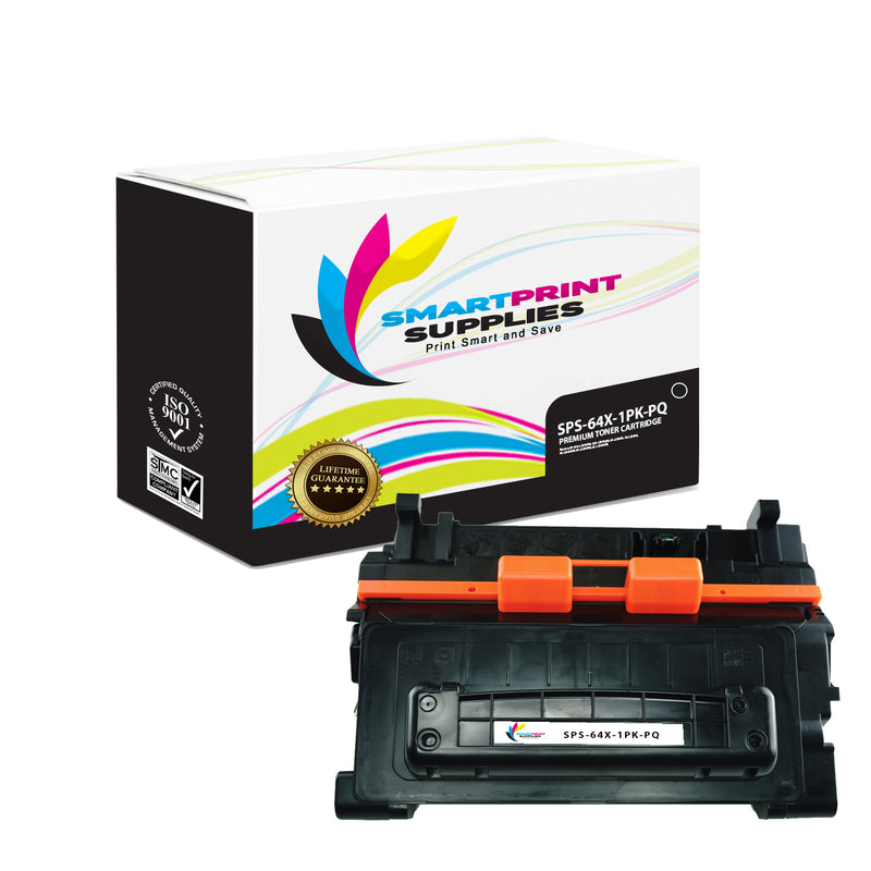 1 Pack 64X CC364X High Yield Black Toner Cartridge for HP 24,000 Pages Yield