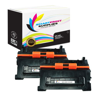 2 Pack HP 64X CC364X Replacement Black Toner Cartridge by Smart Print Supplies