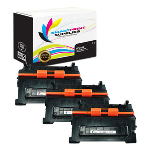 3 Pack HP 64X CC364X Replacement Black Toner Cartridge by Smart Print Supplies