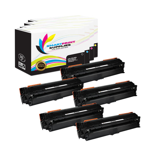 5 Pack HP 650A Replacement (CMYK) Toner Cartridge by Smart Print Supplies
