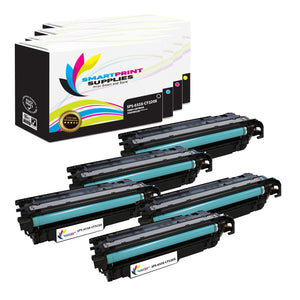 5 Pack HP 653A/653X 4 Colors Toner Cartridge Replacement By Smart Print Supplies