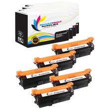 5 Pack HP 654A/654X 4 Colors Toner Cartridge Replacement By Smart Print Supplies