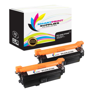 2 Pack HP 654A/654X Black Toner Cartridge Replacement By Smart Print Supplies
