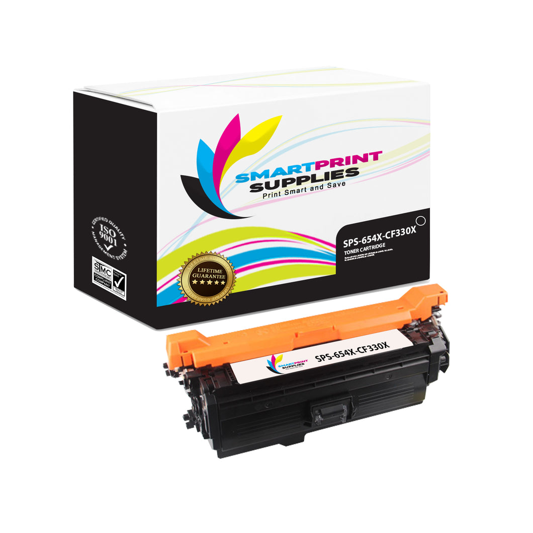 1 Pack HP 654A/654X Black High Yield Toner Cartridge Replacement By Smart Print Supplies