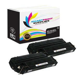 2 Pack HP 74A 92274A Replacement Black MICR Toner Cartridge by Smart Print Supplies