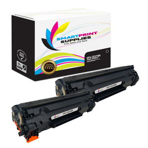 2 Pack HP 78A CE278A Replacement Black Toner Cartridge by Smart Print Supplies