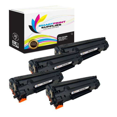 4 Pack HP 78A CE278A Replacement Black Toner Cartridge by Smart Print Supplies