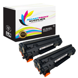 2 Pack HP 78A CE278A Replacement Black MICR Toner Cartridge by Smart Print Supplies