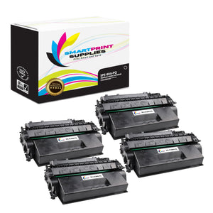 4 Pack HP 80A CF280A Premium Replacement Black Toner Cartridge by Smart Print Supplies