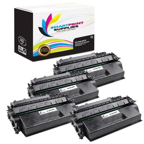 4 Pack HP 80A CF280A Replacement Black MICR Toner Cartridge by Smart Print Supplies