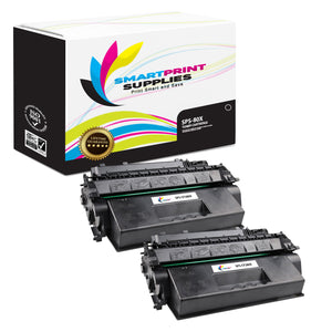 2 Pack HP 80X CF280X Replacement Black High Yield Toner Cartridge by Smart Print Supplies