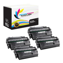 4 Pack HP 80X CF280X Replacement Black High Yield Toner Cartridge by Smart Print Supplies