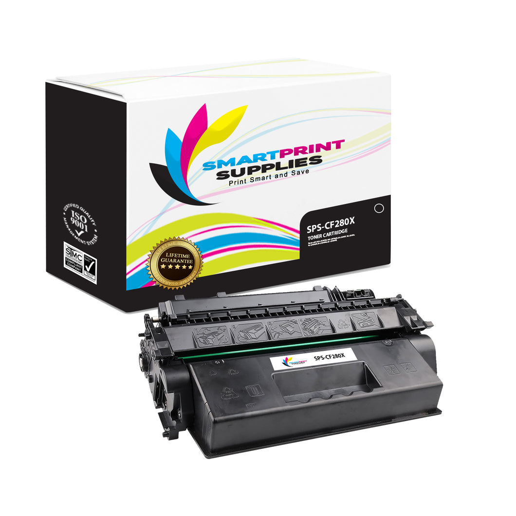 HP 80X CF280X Replacement Black High Yield Toner Cartridge by Smart Print Supplies