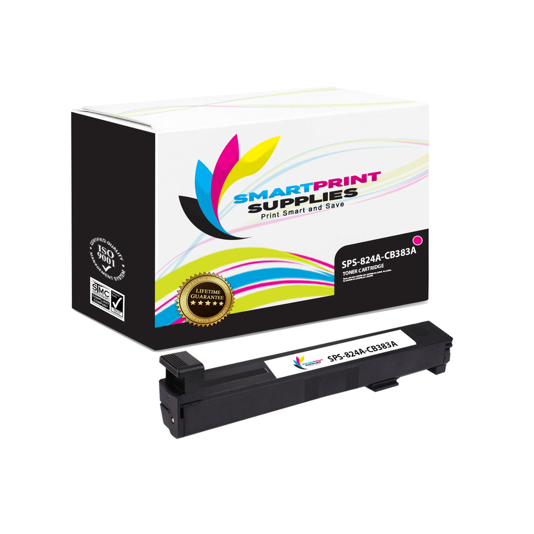 1 Pack HP 823A/824A Magenta Toner Cartridge Replacement By Smart Print Supplies