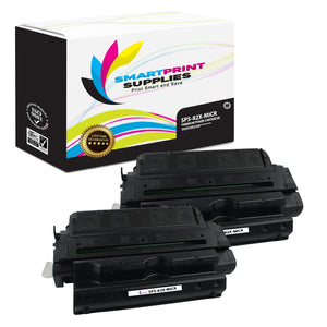 2 Pack HP 82X C4182X Replacement Black High Yield MICR Toner Cartridge by Smart Print Supplies