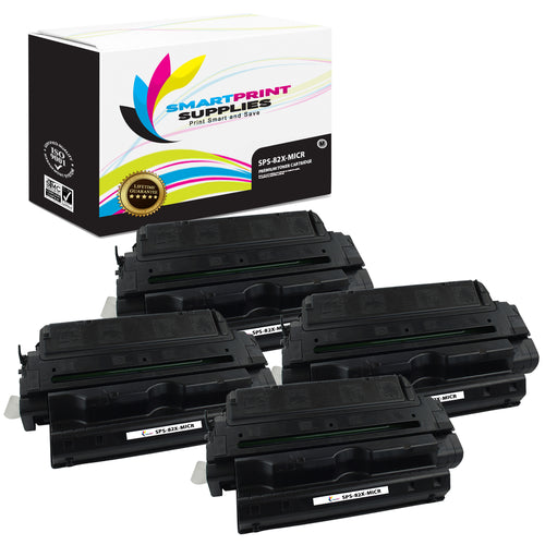 4 Pack HP 82X C4182X Replacement Black High Yield MICR Toner Cartridge by Smart Print Supplies