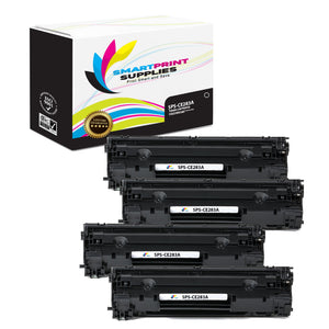4 Pack HP 83A CF283A Replacement Black Toner Cartridge by Smart Print Supplies