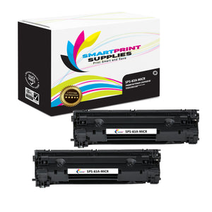 2 Pack HP 83A CF283A Replacement Black MICR Toner Cartridge by Smart Print Supplies