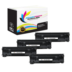 4 Pack HP 83A CF283A Replacement Black MICR Toner Cartridge by Smart Print Supplies
