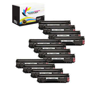 12 Pack HP 83X CF283X Replacement Black High Yield Toner Cartridge by Smart Print Supplies